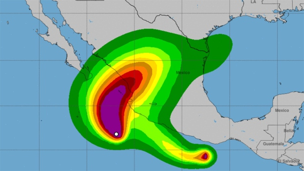Pacific Mexico Map.Hurricane Willa A Category 4 Storm In Pacific Off Mexico Ctv News