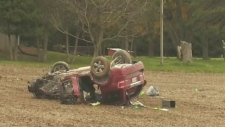 Two people suffer critical injuries after crash