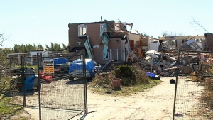 Tornado victims still picking up the pieces in Ott
