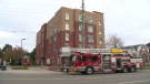 Fire at a five story apartment building in Waterloo forces residents to evacuate.
