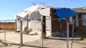 In Dunrobin, one of the areas worst hit by tornadoes that ripped through the capital region 30 days ago, the devastation is still visible. (CTV).