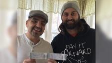 Pay It Forward Winnipeg gave Doug Thomas (left) two tickets to a John Mellencamp concert following the assault Oct. 13. (Source: Ryan DeLong.)