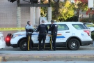Police responded to an incident in the area of King George Boulevard and 104 Avenue Sunday afternoon.