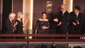 Julia Louis-Dreyfus is honored with the Mark Twain Prize for American Humor at the Kennedy Center for the Performing Arts on Sunday, Oct. 21, 2018, in Washington, D.C. (Photo by Owen Sweeney/Invision/AP)