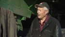 Grant, 97, still puts in 10-hour days on his farm after a brief attempt at retiring. (CTV Edmonton)