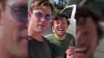 While actor Chris Hemsworth was visiting Australia, he picked up an unsuspecting hitchhiker and wound up dropping him off… in a helicopter. (chrishemsworth/Instagram)
