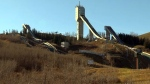 The ski jumping facility at Winsport was built for the 1988 Winter Olympics.