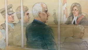 Bruce McArthur is pictured attending court on Monday, Oct. 22, 2018. (John Mantha)
