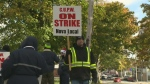 Canada Post workers on strike in Halifax