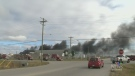Crews working to put out Springfield blaze