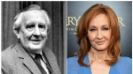 "This combination photo shows J.R.R. Tolkien, author of ""The Lord of the Rings,"" series in 1967, left, and J. K. Rowling, author of the ""Harry Potter"" series at the ""Harry Potter and the Cursed Child"" Broadway opening in New York on April 22, 2018. (AP Photo)"