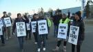 Canada Post strikers Edmonton