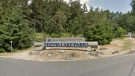 The entrance to Thetis Lake Park in View Royal is shown. (Google Maps)