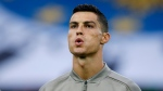 Juventus forward Cristiano Ronaldo warms up prior to a soccer match against Udinese, in Udine, Italy on Oct. 6, 2018. (AP Photo/Antonio Calanni)
