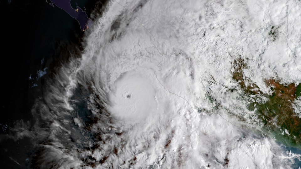 NOAA satellite image of Hurricane Willa