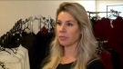 Andrea Gusta, the owner of Luxquisite Clothing. (Saron Fanel/CTV Saskatoon)