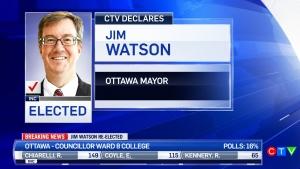 Jim Watson re-elected as mayor of Ottawa