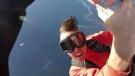 Sudden death of a parachuter