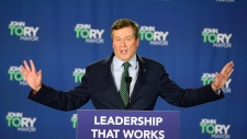 John Tory speaks after being re-elected as mayor