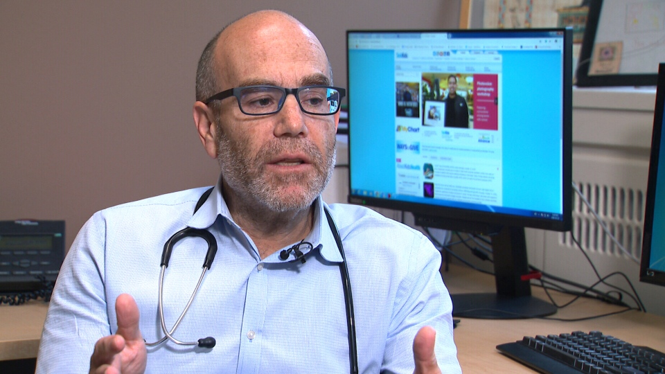 Dr. Jeremy Friedman, pediatrician-in-chief at Toronto's Hospital for Sick Children, says he has seen about a dozen confirmed cases of acute flaccid myelitis since the beginning of September. (CTV News)