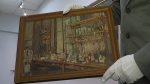 "Entitled ""The Lab,"" this rare painting by Dr. Frederick Banting depicts the University of Toronto research laboratory where the Canadian physician co-discovered insulin. (CTV News)"