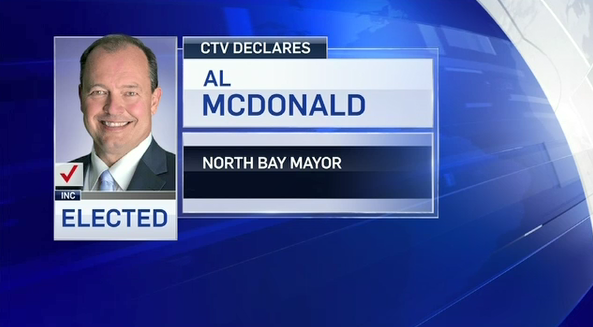 North Bay re-elects incumbent Al McDonald as mayor