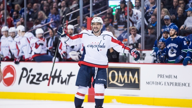 6215835ca12 Ovechkin dominant in Washington Capitals 5-2 win over Vancouver ...