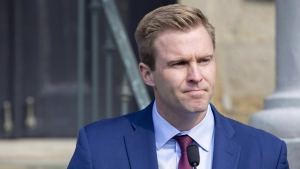 New Brunswick Liberal Leader Brian Gallant in Fredericton on Sept. 25, 2018. (James West / THE CANADIAN PRESS)