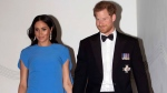Prince Harry and Meghan, Duchess of Sussex arrive at the official dinner in Suva, Fiji, Tuesday, Oct. 23, 2018. (Ian Vogler/Pool Photo via AP)