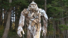 Sasquatch sculpture