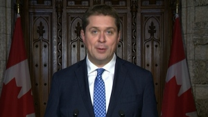 Tory leader Scheer comments on carbon tax