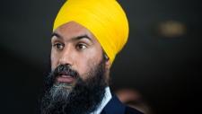 NDP Leader Jagmeet Singh speaks in Ottawa