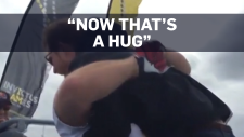 An American sailor gave Prince Harry some love, lifting him off the ground at an Invictus Games event.