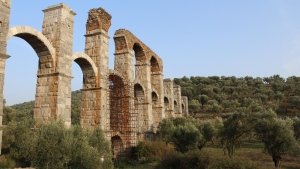 Moria, Lesbos is known for its Roman Aqueduct that dates back to the Roman period, and was used to transport water from the springs of Olympos Mountain to the city of Mytilini (Photo: Daniele Hamamdian)
