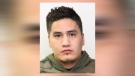 Dustin Watetech was wanted on 12 outstanding warrants related to weapons offences (Calgary Police Service)