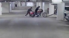 Motorcycle stolen from Inglewood parking garage