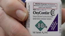 A bottle of OxyContin