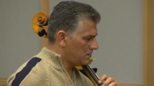 Tariq Abdul-Razzaq's cello, damaged in a 2014 shooting attack in Iraq, has been restored and he is set to perform with an orchestra this weekend for the first time since the attack