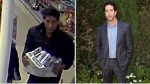 Left: Blackpool police are looking for this David Schwimmer lookalike. (Blackpool Police/Facebook) 