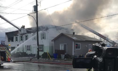 Early morning blaze in Timmins