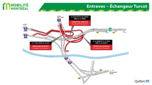 These are the Turcot closures for Oct. 26, 2018