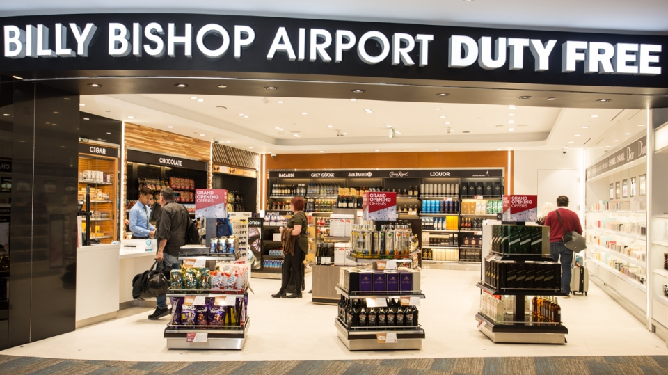 The new Billy Bishop Airport Duty Free is seen in this photograph. (Billy Bishop Airport)