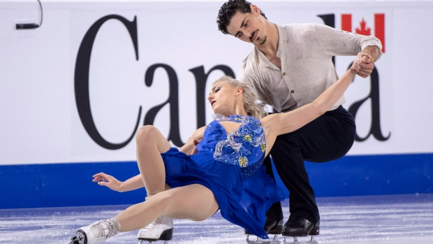 Skaters Piper Gilles and Paul Poirier