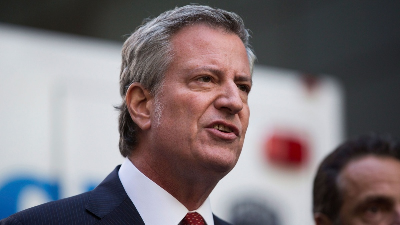 LIVE NOW: NYC mayor Bill De Blasio speaks to reporters