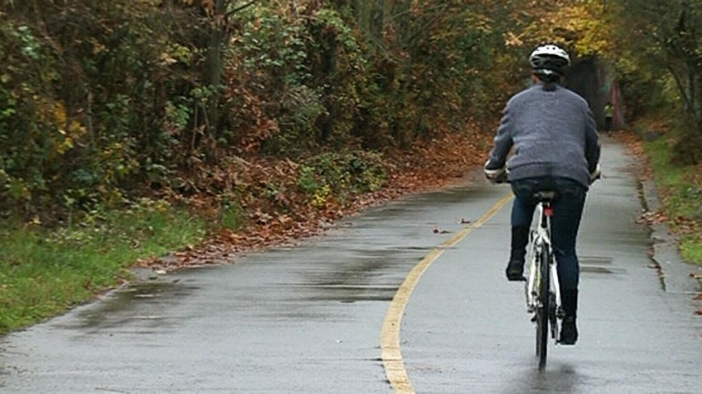 Tacks strewn on popular bike trail