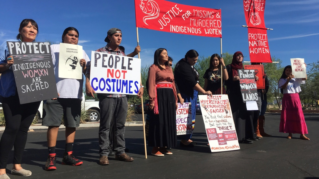 Protests against sexy Native American costumes
