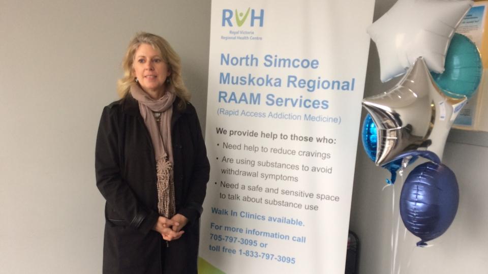 Angela McCuaig, Rapid Access Addiction Medicine Services, in Midland, Ont., on Friday, October 26, 2018 (CTV News/Rob Cooper)