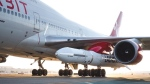 Virgin Orbit has mated a LauncherOne rocket to a special Boeing 747 at Long Beach Airport.  (@Virgin_Orbit / Twitter)