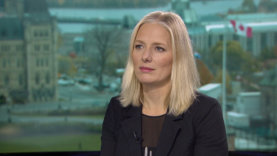 Environment and Climate Change Minister Catherine McKenna on CTV's Question Period.