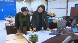 For years, Frederic and Etienne Morin-Bordeleau worked with the STM to develop a plan to re-purpose the cars taken out of rotation. They're working on the construction of a $7 million cultural compound, built from retired MR-63's, that will likely go up in Griffintown. (CTV Montreal)